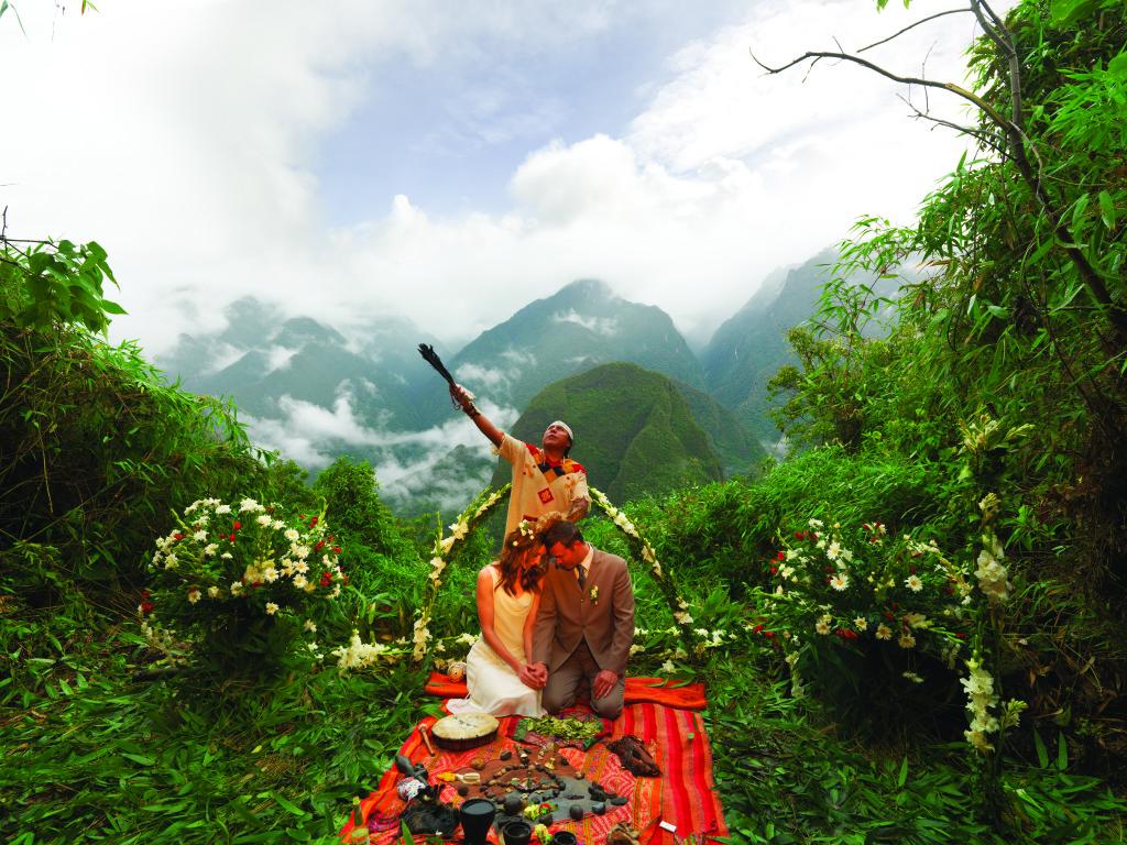 Peru - BELMOND SANCTUARY LODGE - svatba posvěcená šamanem Inků