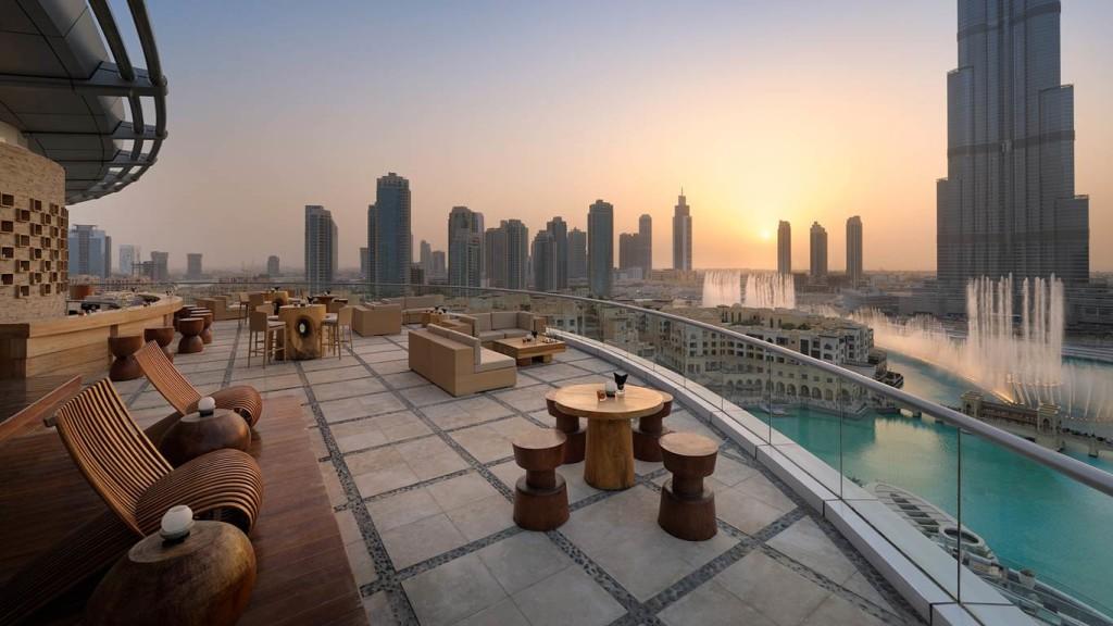 Dubaj - hotel The Adress Downtown - výhled na Burj Khalifu