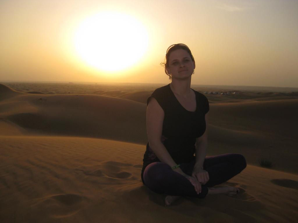 Dubaj - výlet jeep safari - překrásný západ slunce