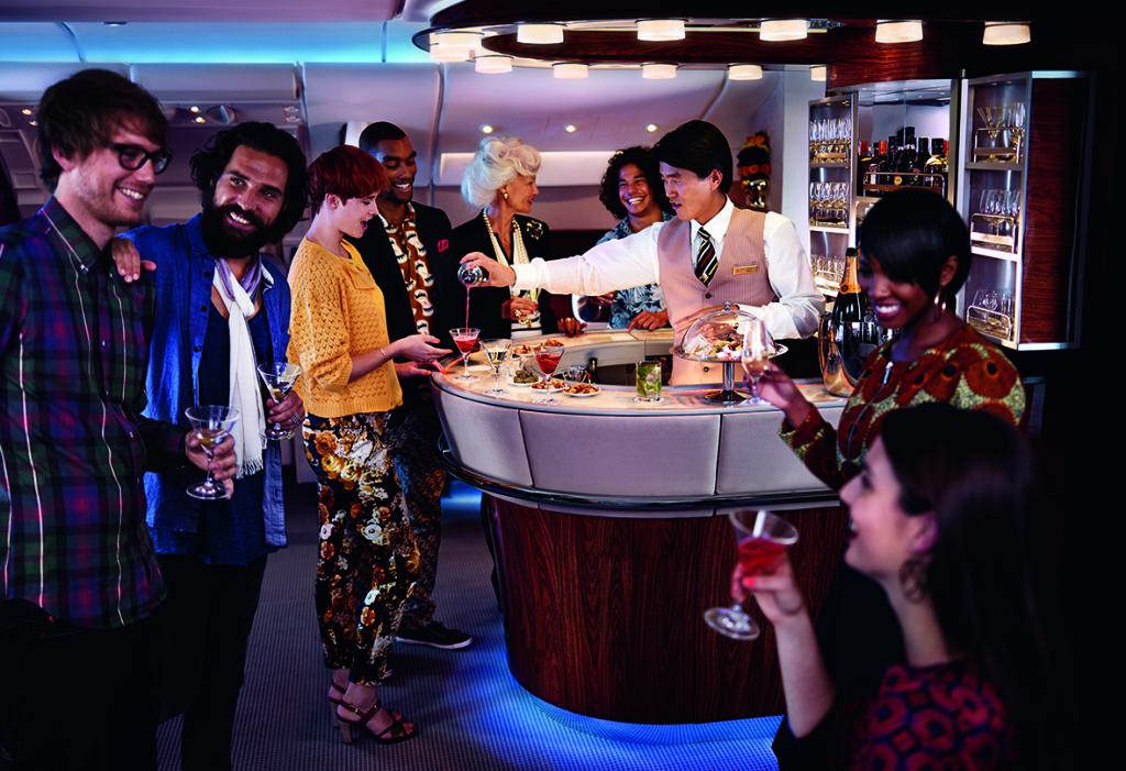 Emirates A380 - bar v business class