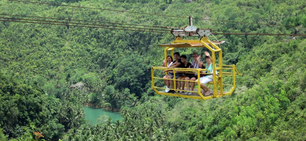 Filipíny - ostrov Bohol - Zip Lane, lanovka