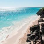 Mexiko-Tulum-pláž