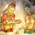 Srí-Lanka-Sigiriyia-nastěnné-malby