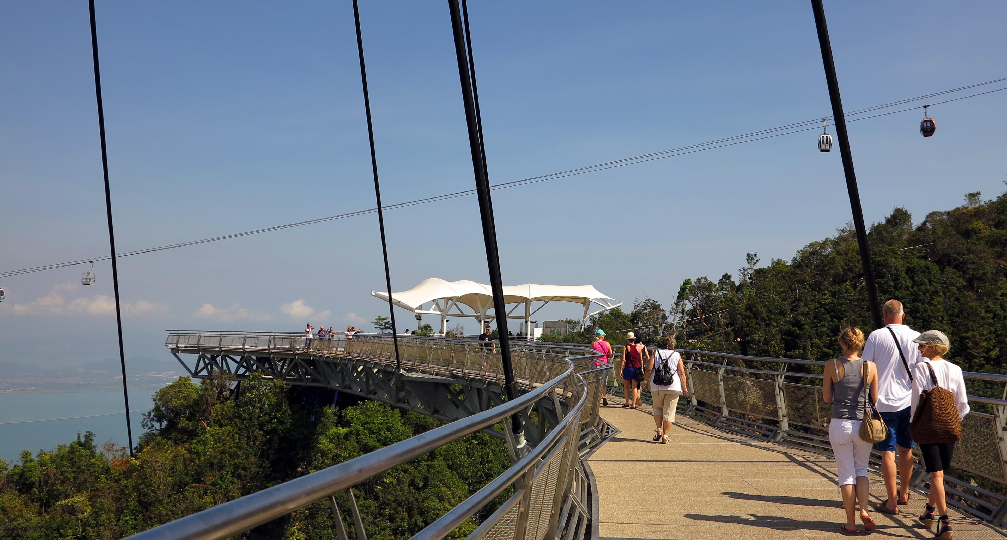 Malajsie-ostrov-Langkawi-most-Sky-Bridge