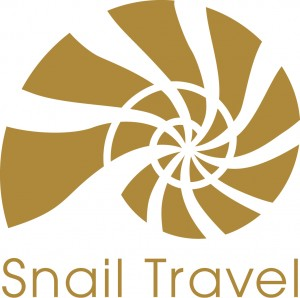 Logo Snail Travel gold