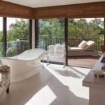 Tanzánie - Four Seasons Serengeti - koupelna v junior suite