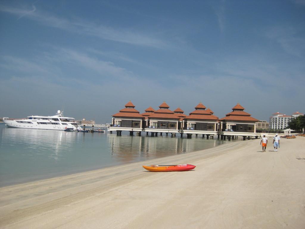 Dubaj - palmový ostrov - hotel Anantara The Palm - vodní vily