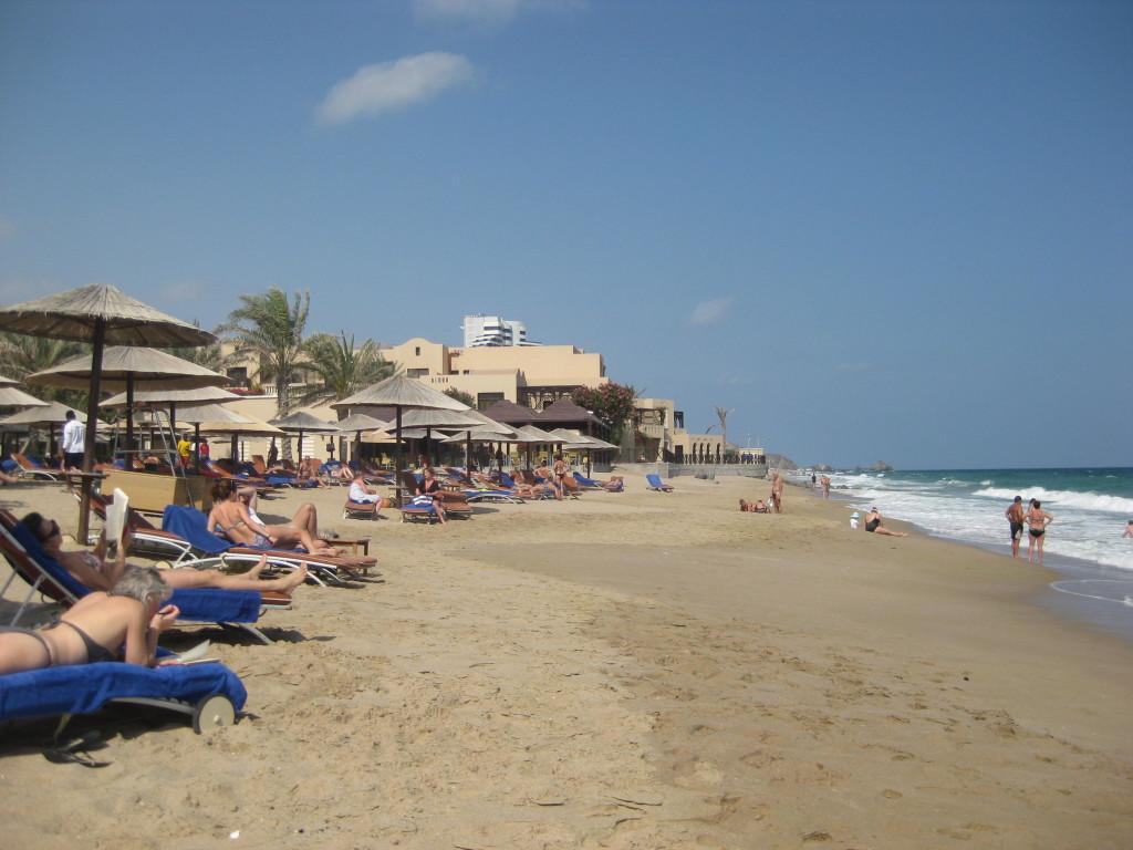 Fujairah - pláž u hotelu Miramar