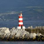 Azory - Faial - maják v přístavu Horta