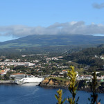 Azory - Treceira - vyhlídka na hotely Caracol a Terceira mar