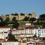 Lisabon - pohled na hrad Sv. Jiří