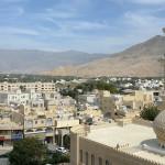 Omán - Nizwa - pohled z pevnosti na město