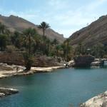 Omán - Wadi Bani Khalid - osvěžující jezírko