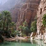 Omán - Wadi Shab - jezírko