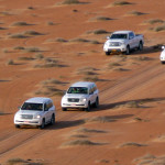 Omán - jízda jeepy do pouště Wahiba