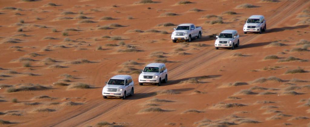 Omán - jízda do pouště